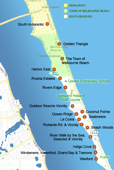 Map Of Melbourne Beach Florida.Here S Your Guide To Melbourne Beach Communities Melbourne Beach
